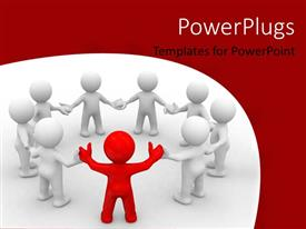 PowerPlugs: PowerPoint template with a number of people in a meeting with white background