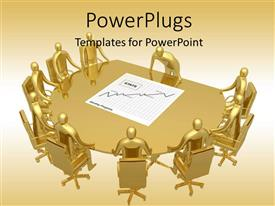 PowerPlugs: PowerPoint template with a number of people in the office for a meeting