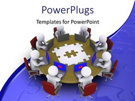 PowerPlugs: PowerPoint template with a number of people in an office with white background