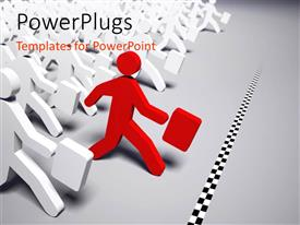PowerPlugs: PowerPoint template with a number of people with one in the front