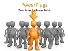 PowerPlugs: PowerPoint template with a number of people with one leading them all