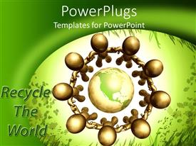 PowerPlugs: PowerPoint template with a number of people protecting the Earth
