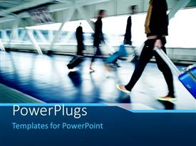 PowerPlugs: PowerPoint template with a number of people on the railway station