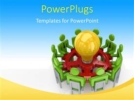 PowerPlugs: PowerPoint template with a number of people sitting for a meeting