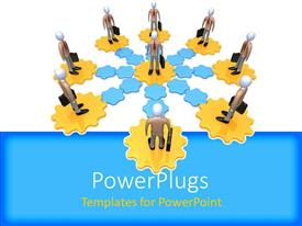 PowerPlugs: PowerPoint template with a number of people standing on puzzle pieces