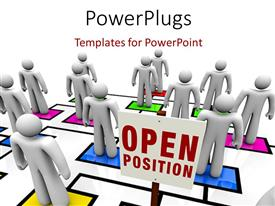 PowerPoint template displaying a number of people standing with white background