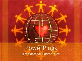 PowerPlugs: PowerPoint template with a number of people surrounding the globe