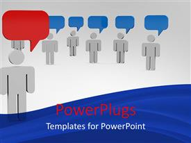PowerPlugs: PowerPoint template with a number of people thinking same and one of them thinking in a different way