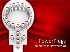 PowerPlugs: PowerPoint template with a number of people together making a specific shape