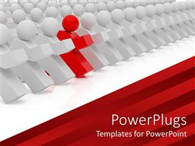 PowerPlugs: PowerPoint template with a number of people together with one of them being different