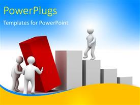 PowerPlugs: PowerPoint template with a number of people trying to make a growth table