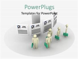 PowerPlugs: PowerPoint template with a number of people waiting for the job interview