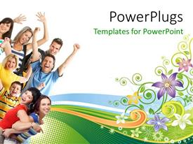 PowerPlugs: PowerPoint template with a number of people with white background