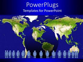 PowerPlugs: PowerPoint template with a number of people withEarth in the background