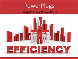 PowerPlugs: PowerPoint template with a number of people with the word efficiency