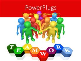 PowerPlugs: PowerPoint template with a number of people with the word hard work