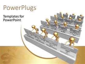PowerPlugs: PowerPoint template with a number of people in a working environment with white background