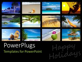 PowerPlugs: PowerPoint template with a number of pictures depicting the enjoyment on the beach