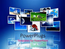 PowerPlugs: PowerPoint template with a number of pictures representing the world