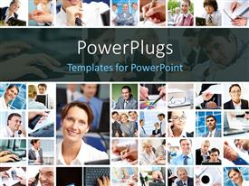PowerPlugs: PowerPoint template with a number of pictures with various people in them