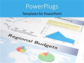 PowerPlugs: PowerPoint template with a number of pie charts with document in background