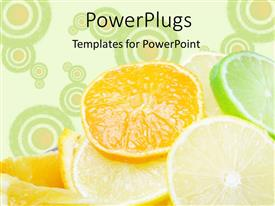 PowerPlugs: PowerPoint template with a number of pieces of lemon and oranges