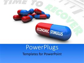 PowerPlugs: PowerPoint template with a number of pills with clock in the background