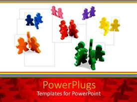 PowerPlugs: PowerPoint template with a number of plastic figures in puzzle pieces