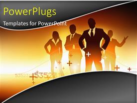 PowerPlugs: PowerPoint template with a number of professional with a yellowish background