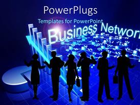 PowerPlugs: PowerPoint template with a number of professionals with business related stuff in background