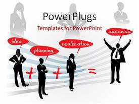 PowerPlugs: PowerPoint template with a number of professionals with expressions and white background