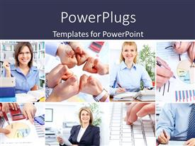 PowerPlugs: PowerPoint template with a number of professionals with marketing related stuff