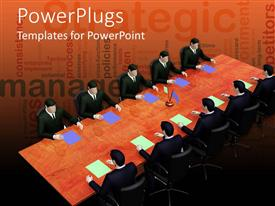 PowerPlugs: PowerPoint template with a number of professionals in the meeting