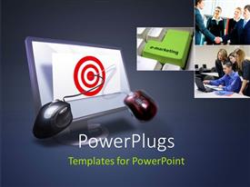PowerPlugs: PowerPoint template with a number of professionals with a monitor and two mouse