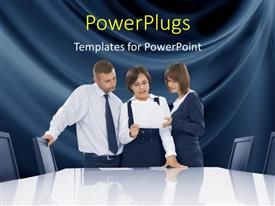 PowerPlugs: PowerPoint template with a number of professionals in an office