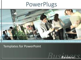 PowerPlugs: PowerPoint template with a number of professionals with place for text