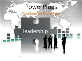 PowerPlugs: PowerPoint template with a number of professionals with puzzle piece in background