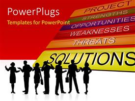 PowerPlugs: PowerPoint template with a number of professionals with various options in the background