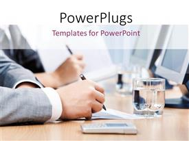 PowerPlugs: PowerPoint template with a number of professionals working in the office