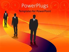 PowerPlugs: PowerPoint template with a number of professionals with yellowish background