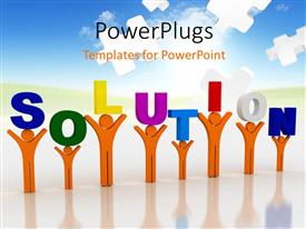 PowerPlugs: PowerPoint template with a number of puzzle pieces in the background with place for text