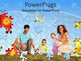 PowerPlugs: PowerPoint template with a number of puzzle pieces creating a family picture