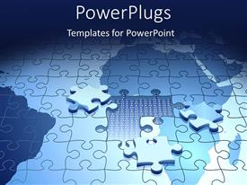 PowerPlugs: PowerPoint template with a number of puzzle pieces making the puzzle