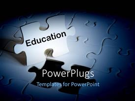 PowerPlugs: PowerPoint template with a number of puzzle pieces with one standing out