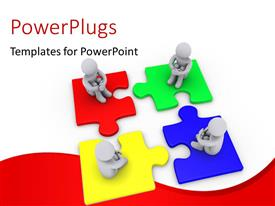 PowerPlugs: PowerPoint template with a number of puzzle pieces with people on them