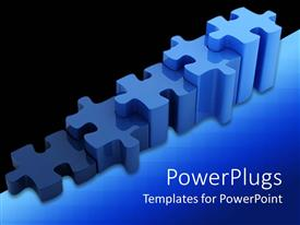 PowerPlugs: PowerPoint template with a number of puzzle pieces together with black background