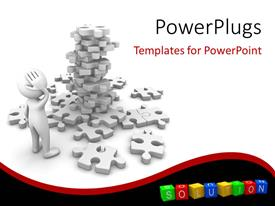 PowerPlugs: PowerPoint template with a number of puzzle pieces and white background