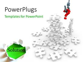 PowerPlugs: PowerPoint template with a number of puzzle pieces with the word solution at one corner