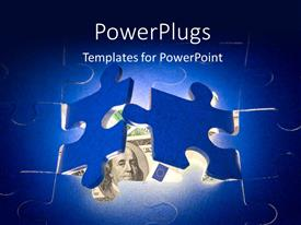 PowerPlugs: PowerPoint template with a number of puzzles and bluish background