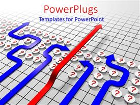 PowerPlugs: PowerPoint template with a number of question marks together